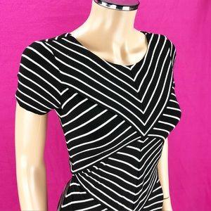 ANTHROPOLOGIE dress Bailey 44 black stripe Small